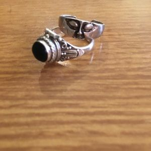 Vintage Sterling Locket Ring